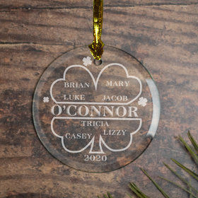 Personalized Irish Family of 7 Christmas Ornament