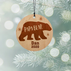 Personalized Papa Bear Christmas Ornament