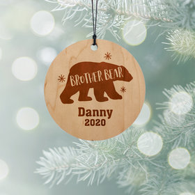 Personalized Brother Bear Christmas Ornament