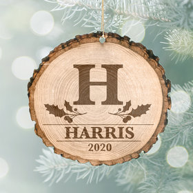 Personalized General Family Monogram Christmas Ornament