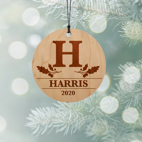 Personalized Family Monogram Christmas Ornament