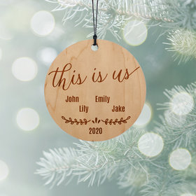 Personalized Family of 4 Christmas Ornament