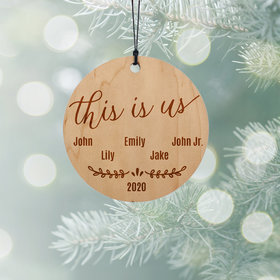 Personalized Family of 5 Christmas Ornament