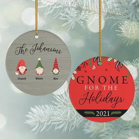 Personalized Gnome For The Holidays (3) Christmas Ornament