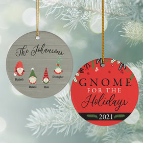 Personalized Gnome For The Holidays (4) Christmas Ornament