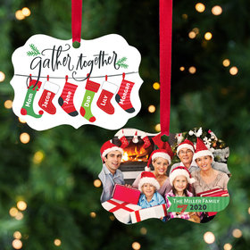 Personalized Stocking Family of 6 Christmas Ornament