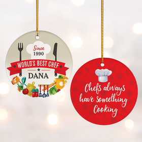 Personalized Best Chef Christmas Ornament
