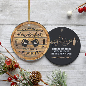 Personalized Beer Drinkers Christmas Ornament