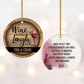 Personalized Wine Drinkers Christmas Ornament
