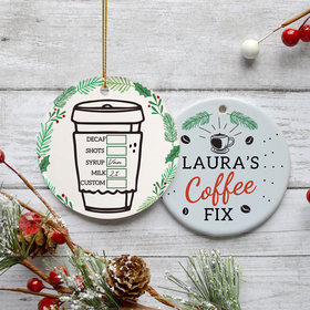 Personalized Coffee Christmas Ornament