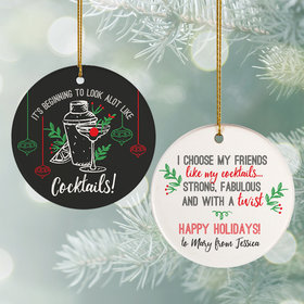 Personalized Friends & Cocktails Christmas Ornament