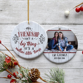 Personalized Best Friends Christmas Ornament