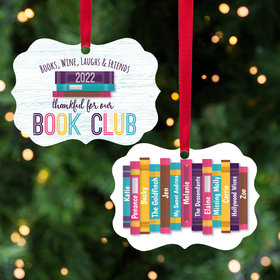 Personalized Book Club Christmas Ornament