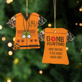 Personalized Hunting Vest Christmas Ornament