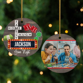 Personalized Game Night Photo Christmas Ornament