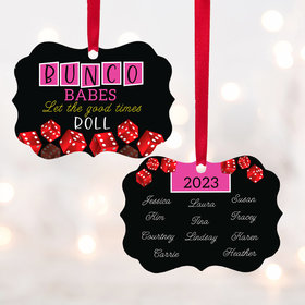 Personalized Bunco Babes Christmas Ornament