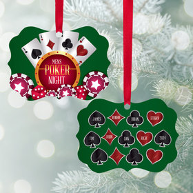 Personalized Poker Night Christmas Ornament