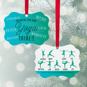 Personalized Yoga Tribe Christmas Ornament