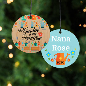 Personalized Gardening Hobbies Christmas Ornament