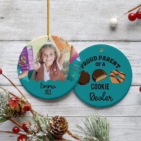 Personalized Cookie Dealer Christmas Ornament