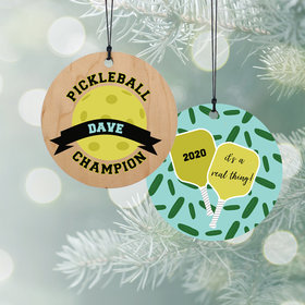 Personalized Pickleball Christmas Ornament