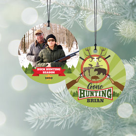 Personalized Gone Hunting Christmas Ornament