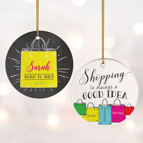 Personalized Shopping Christmas Ornament