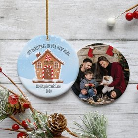 Personalized 1st Christmas in Our New Home Photo Christmas Ornament