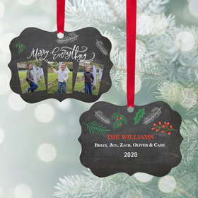 Personalized Merry Everything Christmas Ornament