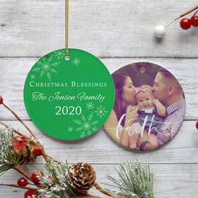 Personalized Christmas Blessings Christmas Ornament