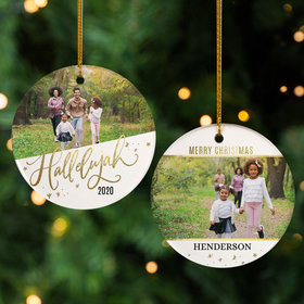 Personalized Hallelujah Christmas Photo Christmas Ornament