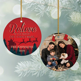 Personalized Believe in the Magic of Christmas Ornament