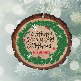 Personalized Merry Christmas Wreath Christmas Ornament