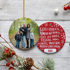 Personalized Holiday Sayings Christmas Ornament