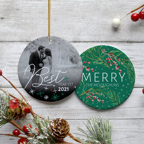Personalized Best Year Yet Christmas Ornament