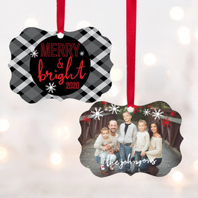 Personalized Merry & Bright Christmas Ornament