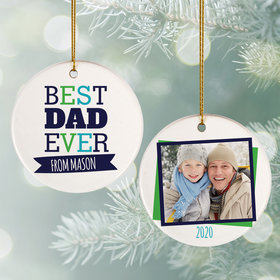 Personalized Best Dad Ever Ornament
