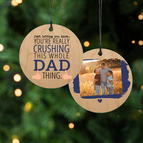 Personalized Crushing it Dad Christmas Ornament