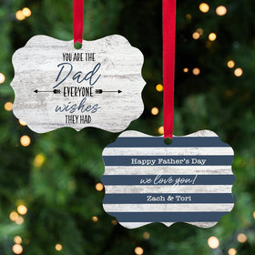 Personalized Father's Day Christmas Ornament