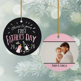 Personalized First Father's Day Ornament