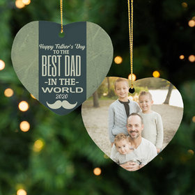 Personalized Father's Day Photo Christmas Ornament