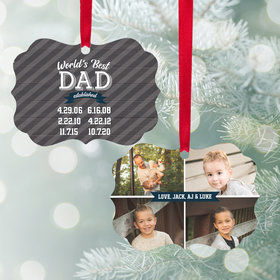 Personalized World's Best Dad Christmas Ornament
