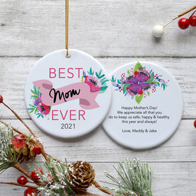 Personalized Mother's Day Christmas Ornament