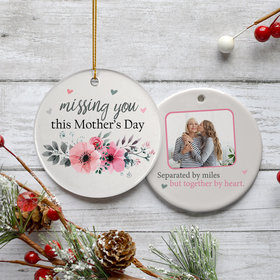 Personalized Mother's Day Photo Christmas Ornament
