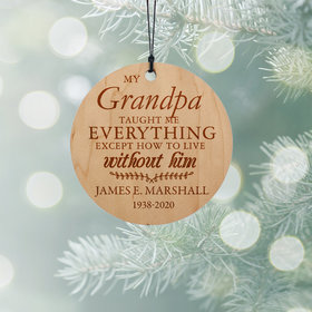 Personalized Grandpa Christmas Ornament