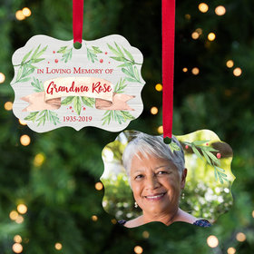 Personalized Memorial Photo Christmas Ornament