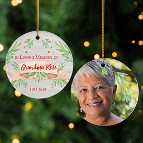Personalized Memorial Christmas Ornament