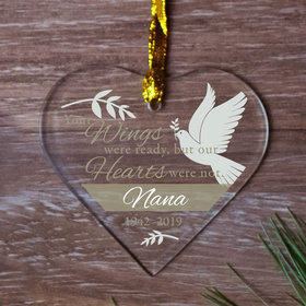 Personalized Dove Wings Christmas Ornament
