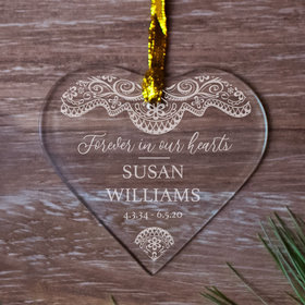 Personalized Lace Christmas Ornament