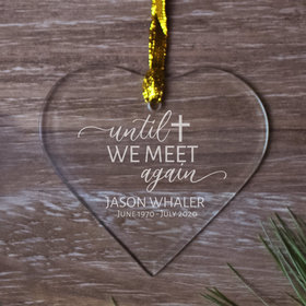 Personalized Until We Meet Again - Etched Christmas Ornament